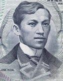 """何塞里扎尔1861在菲律宾的†""""1896画象1 piso 1969 b 免版税库存照片"""