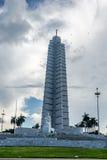 何塞马蒂纪念品在广场de la Revolucion -哈瓦那,古巴 免版税库存照片