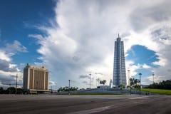 何塞马蒂纪念品在广场de la Revolucion -哈瓦那,古巴 免版税库存图片