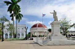 何塞马蒂雕象在西恩富戈斯,古巴 图库摄影