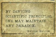任何矛盾伽利略 免版税库存照片