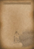 任何设计的老茶菜单背景葡萄酒纸 库存照片