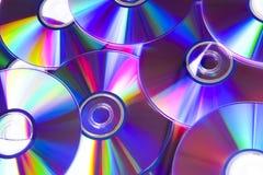 任何CD & DVD盘背景 免版税库存图片