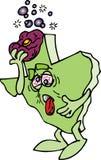 余醉未醒而难受的得克萨斯 向量例证