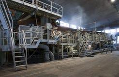 佛式造纸机磨房纸张工厂黏浆状物质 库存图片