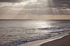 佛得角海滩 免版税库存照片