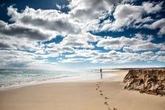 佛得角海滩 免版税库存图片