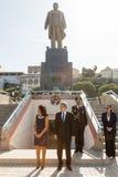佛得角的豪尔赫卡洛斯有妻子的Almeida丰塞卡湾总统, 免版税图库摄影
