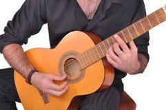 佛拉明柯舞曲吉他演奏员 库存照片