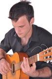 佛拉明柯舞曲吉他演奏员 免版税库存图片
