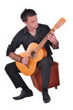 佛拉明柯舞曲吉他演奏员 免版税库存照片