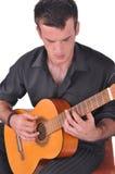 佛拉明柯舞曲吉他演奏员 库存图片