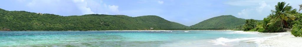 佛拉明柯舞曲海滩全景的Culebra 图库摄影
