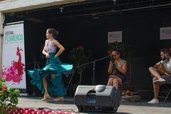 佛拉明柯舞曲节日在蒙特利尔 免版税库存照片