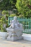 佛教中国教士雕象 免版税库存照片