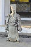 佛教中国教士雕象 库存图片