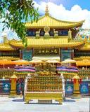 佛教公园、露天场所、许多雕象和美好的地方在三亚海岛上  免版税图库摄影