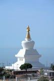 佛教启示西班牙stupa寺庙 免版税图库摄影