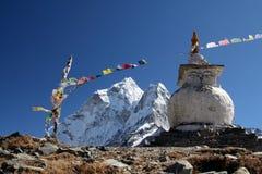 佛教喜马拉雅山stupa 免版税库存图片