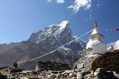 佛教喜马拉雅山stupa 免版税库存照片