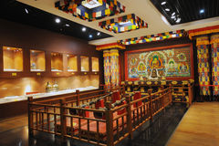 佛教圣所藏语 库存照片