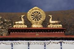 佛教坛场- Drepung修道院-西藏 库存图片