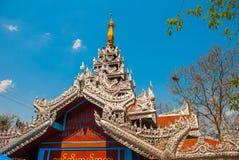 佛教塔在一个小镇实皆,缅甸 库存照片