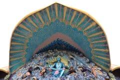 佛教墙壁上的Wat禁令Rai 库存图片