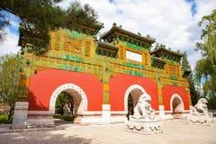 佛教天堂寺庙给上釉的拱道  免版税库存图片