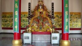 佛教寺庙内部在Pratumnak小山的 股票视频