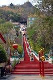 佛教寺庙在北碧,泰国 库存图片