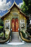 佛教寺庙在清迈,泰国 图库摄影