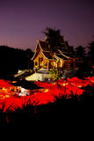 佛教寺庙在琅勃拉邦,老挝 免版税库存图片