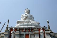 佛教寺庙在豪拉,印度 库存照片