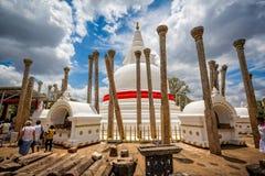 佛教寺庙在阿努拉德普勒,斯里兰卡 免版税库存图片