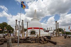 佛教寺庙在Anuradhapua,斯里兰卡 免版税图库摄影