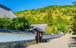 佛教寺庙在Nanzen籍地区-京都 库存照片