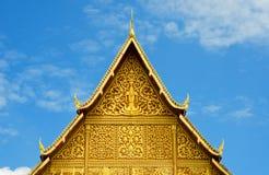 佛教寺庙屋顶,老挝。 免版税库存图片