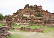佛教寺庙废墟在阿尤特拉利夫雷斯 库存图片