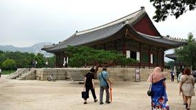佛教寺庙边韩国 免版税库存图片