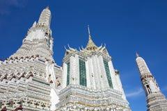 佛教寺庙黎明寺在曼谷 库存照片