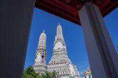 佛教寺庙黎明寺在曼谷 免版税库存照片