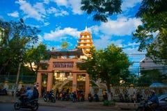 佛教寺庙 越南 岘港市 免版税库存照片