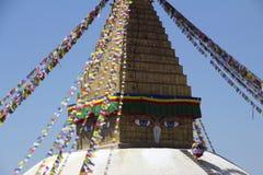佛教寺庙Stupa在尼泊尔 库存照片