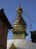 佛教寺庙Stupa在尼泊尔 免版税库存照片