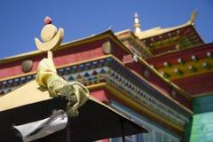佛教屋顶寺庙 免版税图库摄影