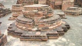 佛教废墟在鹿野苑的 免版税库存图片