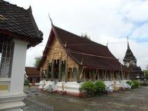 佛教徒修道院在琅勃拉邦,老挝 免版税图库摄影