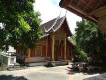 佛教徒修道院在琅勃拉邦,老挝 免版税库存照片