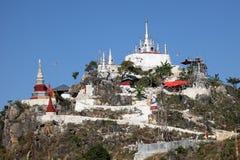 佛教徒修道院在缅甸的垒固 库存图片